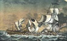 shi100403 - American Frigate Constitution, Old Iron Sides Sail Boat Postcard Post Card