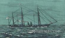 shi100410 - The Confederate Navys Warship, Florida, FL USA Sail Boat Postcard Post Card