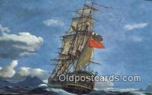 shi100412 - HMS Bounty, Mutiny On The Bounty Sail Boat Postcard Post Card