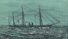 shi100418 - The Confederate Navys Warship, Florida, FL USA Sail Boat Postcard Post Card