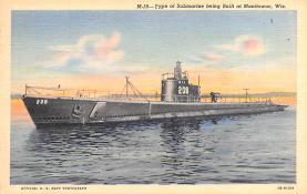 shi400067 - Submarines Post Card Old Vintage Antique Postcard