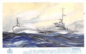 shi400073 - Submarines Post Card Old Vintage Antique Postcard