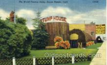 shp001006 - The World Famous Stump House, Eureka, California, Where the Finest of Redwood burl Gifts and Movelties are Manufactured USA, Stores & Shops Postcard Postcards
