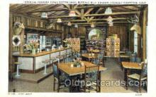 shp001009 - Pahaska Tepee Coffee Shop, Buffalo Bill Museum, Lookout, Mountain Colorado, USA Stores & Shops Postcard Postcards