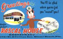 shp001025 - Rascal House, Miami Beach, Florida FL, USA Store Fronts and Store Interiors, Postcard Postcards