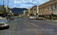 shp001051 - Street Scene Grants Pass, OR, USA Postcard Post Cards Old Vintage Antique