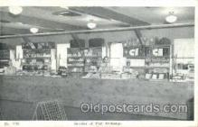 shp001052 - Interior of Post Exchange  Postcard Post Cards Old Vintage Antique