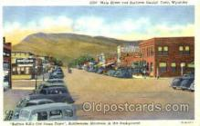 shp001066 - Main Street & Business District Cody, WY, USA Postcard Post Cards Old Vintage Antique