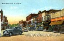 shp001072 - Main Street, Woolworth De Kalb, IL, USA Postcard Post Cards Old Vintage Antique