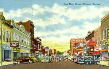 shp001085 - Main Street Chanute, KS, USA Postcard Post Cards Old Vintage Antique