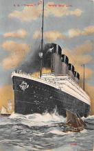 shp002001 - White Star Line Ship Postcard Old Vintage Steamer Antique Post Card