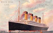 shp002003 - White Star Line Ship Postcard Old Vintage Steamer Antique Post Card