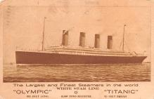 shp002005 - White Star Line Ship Postcard Old Vintage Steamer Antique Post Card