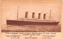shp002007 - White Star Line Ship Postcard Old Vintage Steamer Antique Post Card