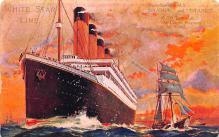 shp002009 - White Star Line Ship Postcard Old Vintage Steamer Antique Post Card