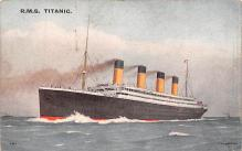shp002011 - White Star Line Ship Postcard Old Vintage Steamer Antique Post Card