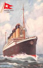 shp002013 - White Star Line Ship Postcard Old Vintage Steamer Antique Post Card