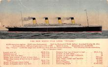 shp002015 - White Star Line Ship Postcard Old Vintage Steamer Antique Post Card