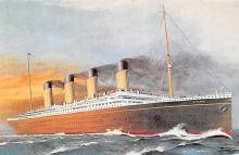 shp002037 - White Star Line Ship Postcard Old Vintage Steamer Antique Post Card