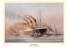 shp002069 - White Star Line Ship Postcard Old Vintage Steamer Antique Post Card