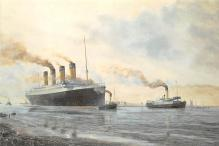 shp002079 - White Star Line Ship Postcard Old Vintage Steamer Antique Post Card