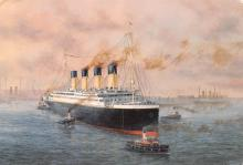 shp002083 - White Star Line Ship Postcard Old Vintage Steamer Antique Post Card