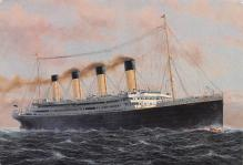 shp002085 - White Star Line Ship Postcard Old Vintage Steamer Antique Post Card