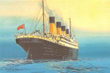 shp002095 - White Star Line Ship Postcard Old Vintage Steamer Antique Post Card