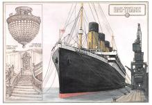 shp002107 - White Star Line Ship Postcard Old Vintage Steamer Antique Post Card