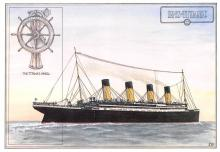 shp002111 - White Star Line Ship Postcard Old Vintage Steamer Antique Post Card