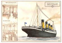 shp002113 - White Star Line Ship Postcard Old Vintage Steamer Antique Post Card