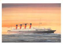 shp002127 - White Star Line Ship Postcard Old Vintage Steamer Antique Post Card