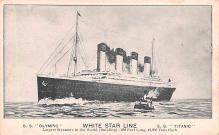 shp003001 - White Star Line Ship Postcard Old Vintage Steamer Antique Post Card