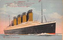 shp003003 - White Star Line Ship Postcard Old Vintage Steamer Antique Post Card