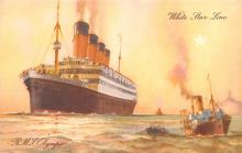 shp003013 - White Star Line Ship Postcard Old Vintage Steamer Antique Post Card