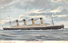 shp003015 - White Star Line Ship Postcard Old Vintage Steamer Antique Post Card