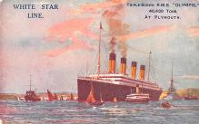 shp003019 - White Star Line Ship Postcard Old Vintage Steamer Antique Post Card