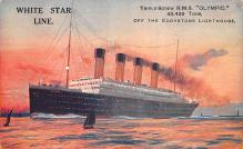 shp003021 - White Star Line Ship Postcard Old Vintage Steamer Antique Post Card