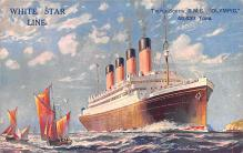 shp003023 - White Star Line Ship Postcard Old Vintage Steamer Antique Post Card