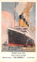 shp003025 - White Star Line Ship Postcard Old Vintage Steamer Antique Post Card