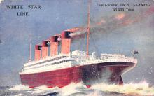 shp003027 - White Star Line Ship Postcard Old Vintage Steamer Antique Post Card