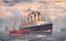 shp003029 - White Star Line Ship Postcard Old Vintage Steamer Antique Post Card