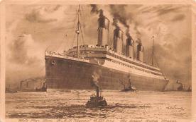 shp003033 - White Star Line Ship Postcard Old Vintage Steamer Antique Post Card