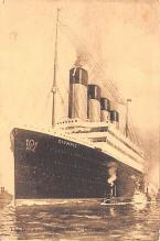 shp003035 - White Star Line Ship Postcard Old Vintage Steamer Antique Post Card