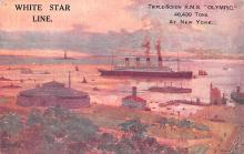 shp003037 - White Star Line Ship Postcard Old Vintage Steamer Antique Post Card