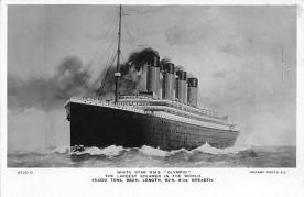 shp003039 - White Star Line Ship Postcard Old Vintage Steamer Antique Post Card