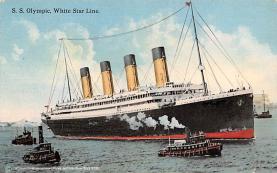 shp003041 - White Star Line Ship Postcard Old Vintage Steamer Antique Post Card
