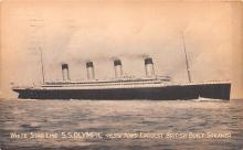 shp003055 - White Star Line Ship Postcard Old Vintage Steamer Antique Post Card