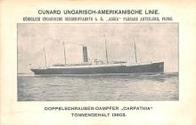shp004001 - Cunard Line Ship Postcard Old Vintage Steamer Antique Post Card