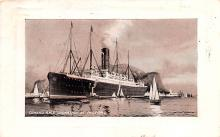 shp004003 - Cunard Line Ship Postcard Old Vintage Steamer Antique Post Card